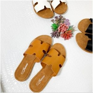 Tan Slide Sandal